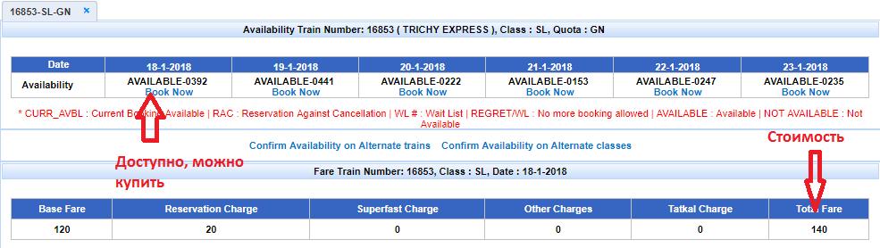индия купить билет на поезд