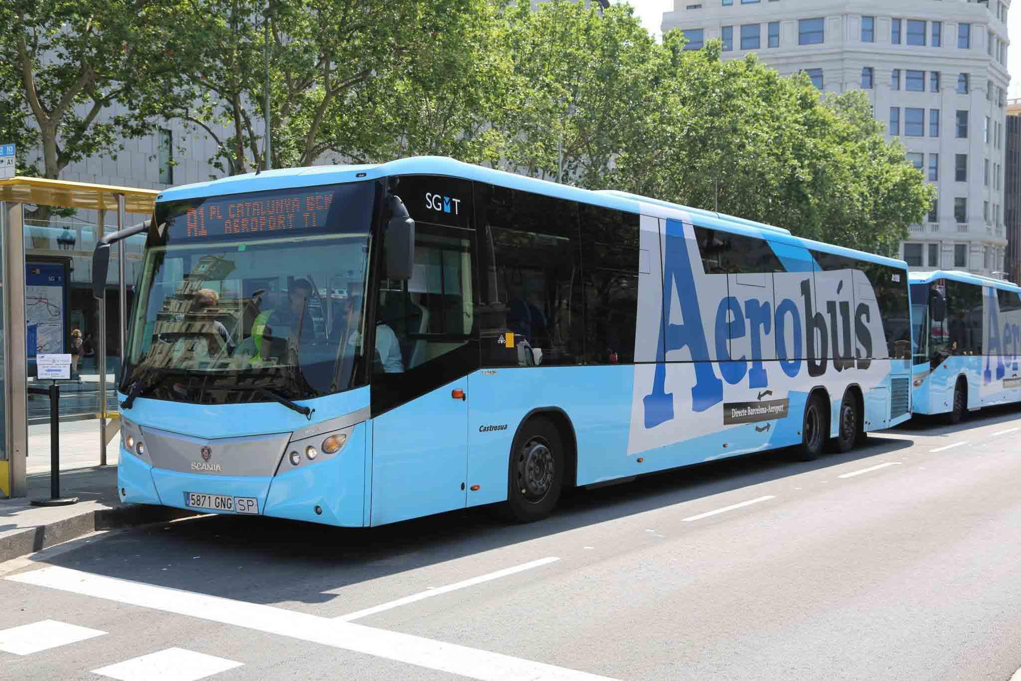 Барселона автобус из аэропорта