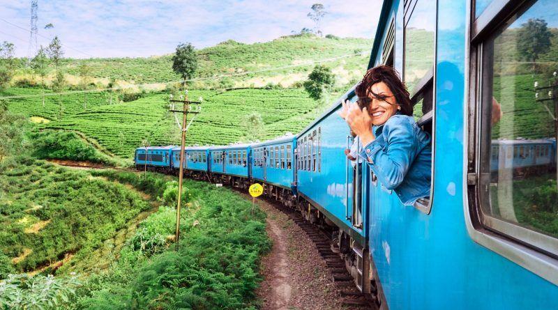 поезд в Азии