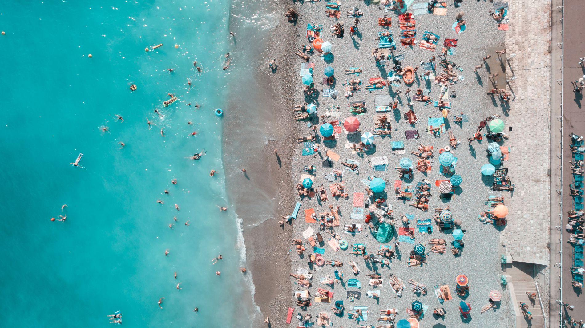 Пляж вид сверху