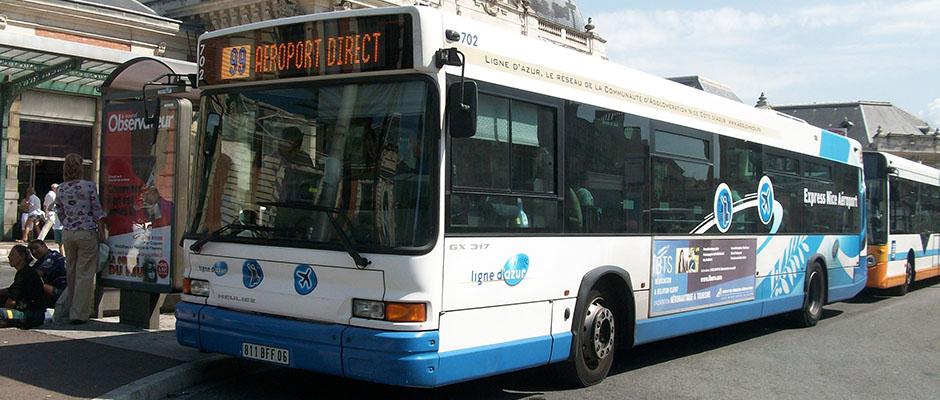 автобус - экспресс из аэропорта Ниццы