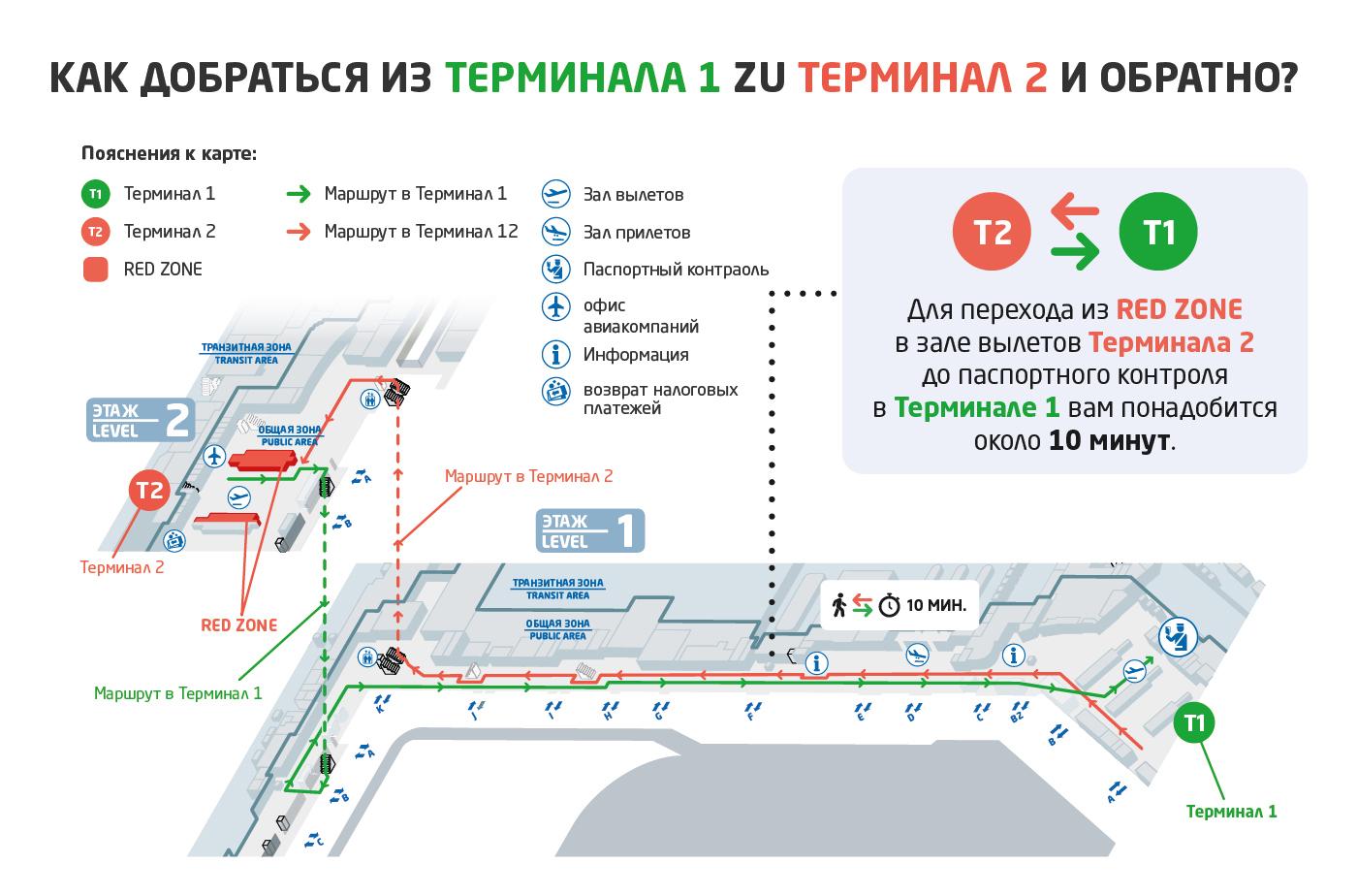 Прага аэропорт схема Т2-Т1