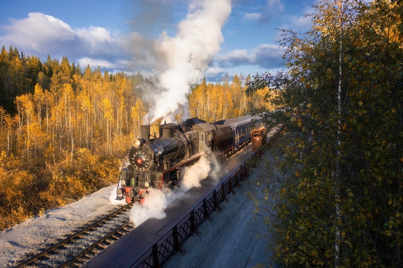 поезд в Рускеалу
