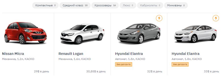 автопрокат в Ереване цены