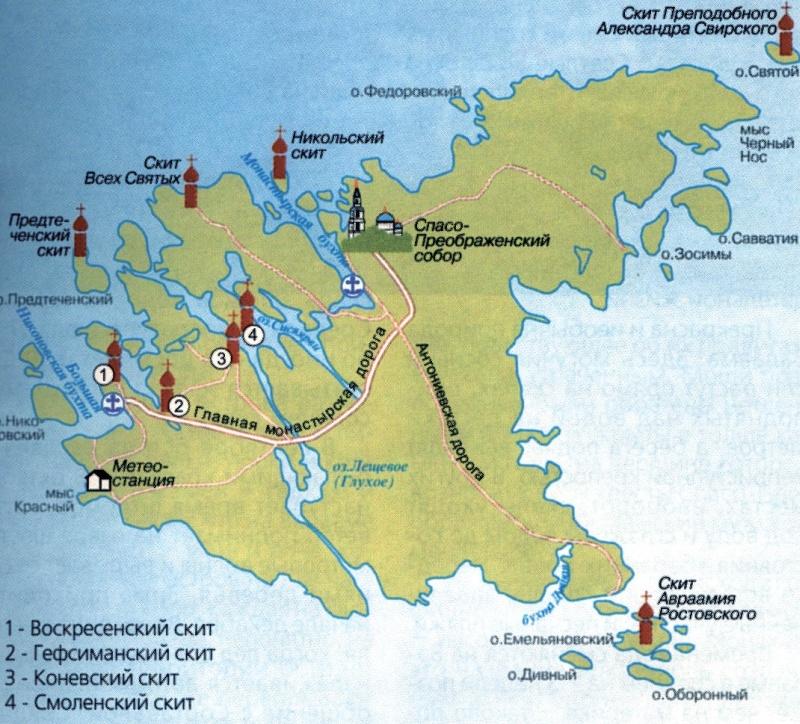 карта Валаама