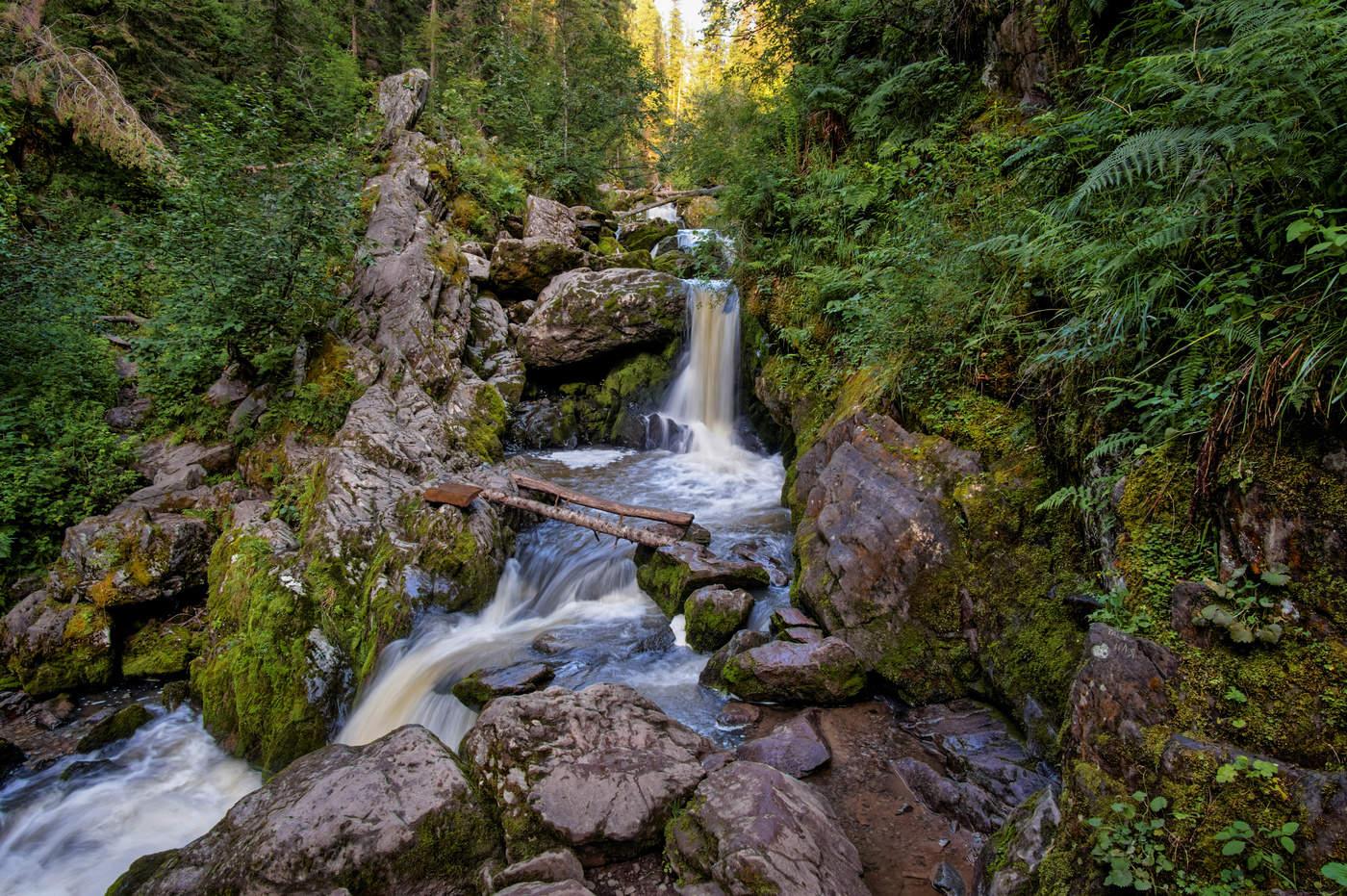 водопады Третьей речки