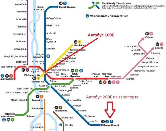 Будапешт метро аэропорт